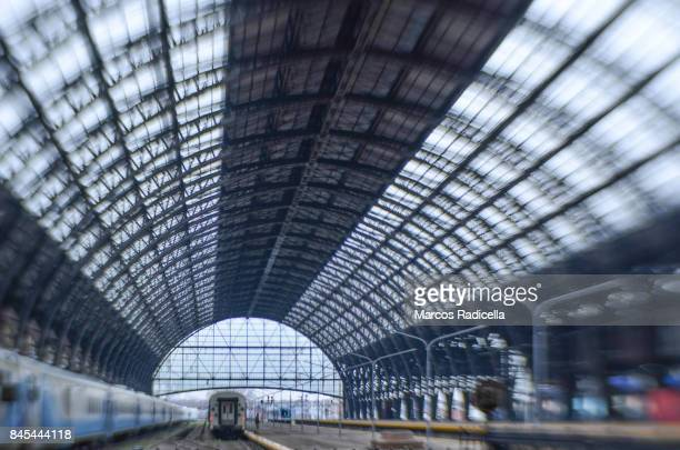main railway station in buenos aires - radicella stock photos and pictures