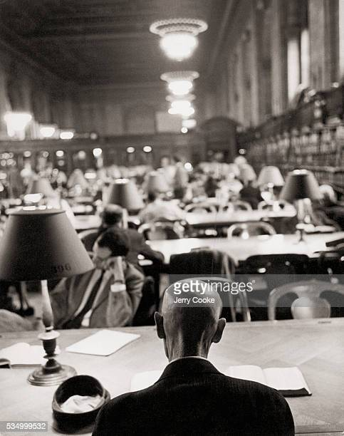 Main Reading Room of the New York Public Library circa 1960