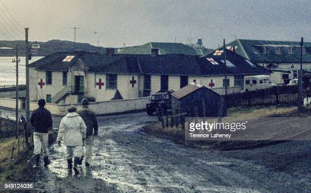 Main road into Port Stanley pictured after the recapture of Port Stanley by British troops during the Falklands War June 1982