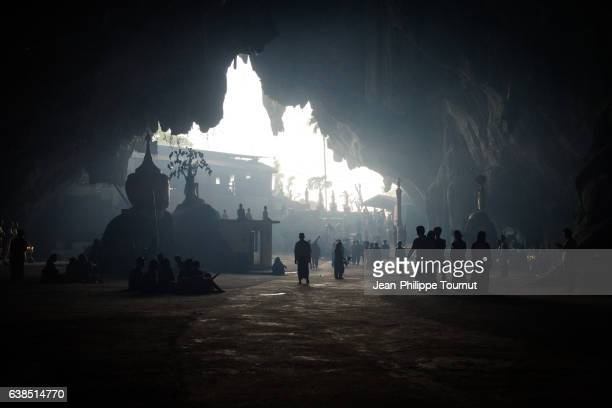 Main room of the famous Sadan Cave near Hpa An, Southern Myanmar