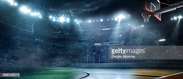 main sports stadiums - basketball stadium stock pictures, royalty-free photos & images