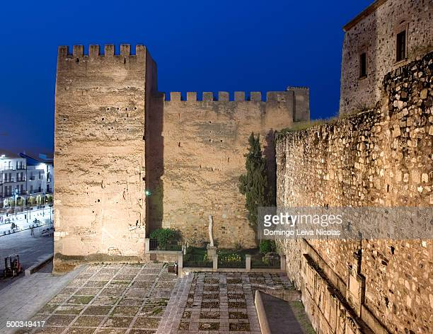 CONTENT] Main Square and Tower of Bujaco Cáceres Extremadura Spain