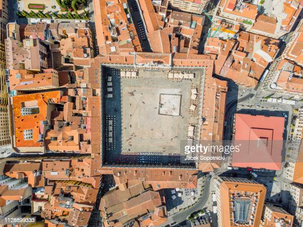 main square called in spanish plaza mayor, drone image, salamanca, spain - サラマンカ ストックフォトと画像
