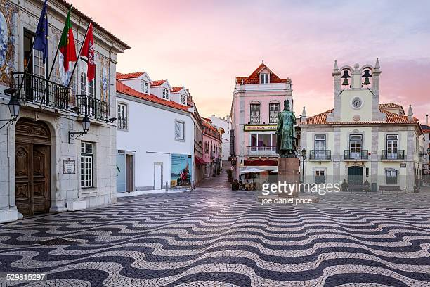 main square, cascais, lisbon, portugal - cascais stock photos and pictures