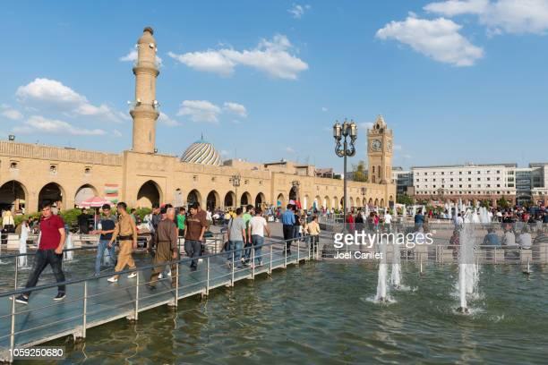 エルビル、イラクのメイン広場 - アルビール ストックフォトと画像
