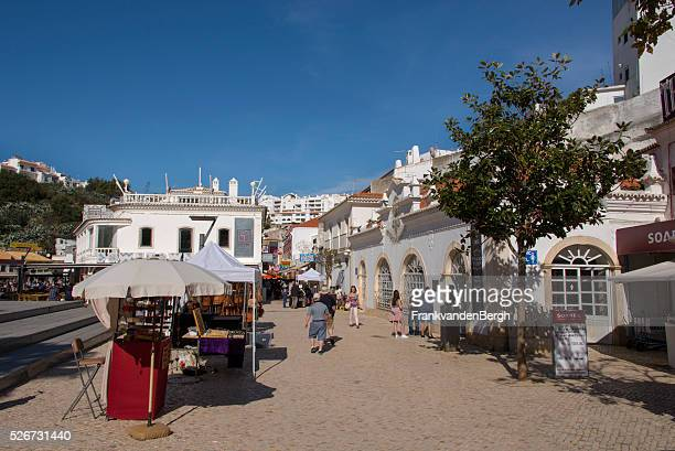 main square of albufeira - albufeira stock pictures, royalty-free photos & images