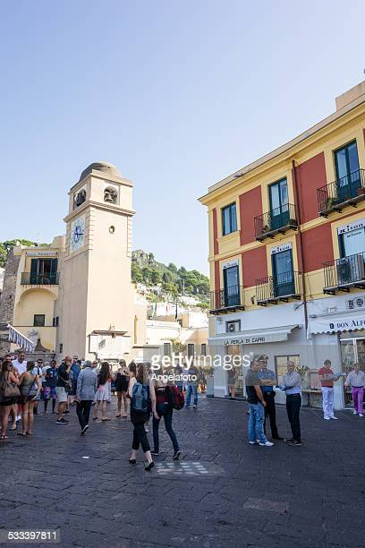 Main Square of Capri with Bell Tower