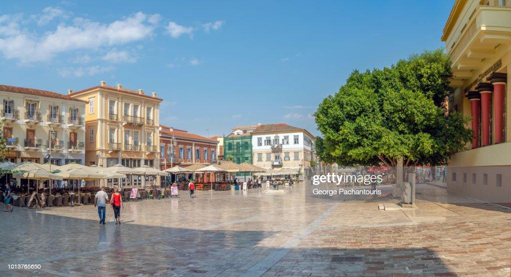 Main square of Nafplio, Greece : Stock Photo