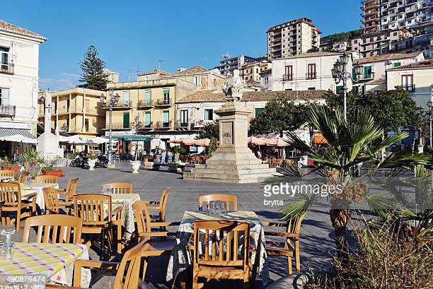 main square of pizzo in calabria,italy - calabria stock pictures, royalty-free photos & images