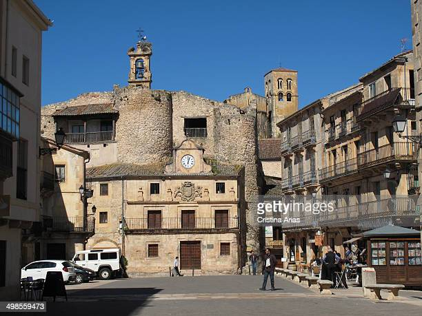 Main square of Sepulveda Segovia Castile and Leon Spain