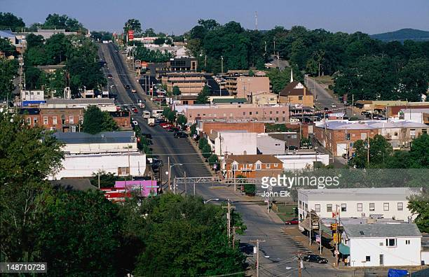 main st, the ozarks. - ozark mountains stock pictures, royalty-free photos & images