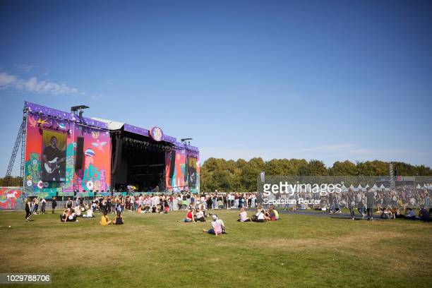 Main stage 1 is seen during Lollapalooza Berlin 2018 at Olympiagelaende on September 9, 2018 in Berlin, Germany.