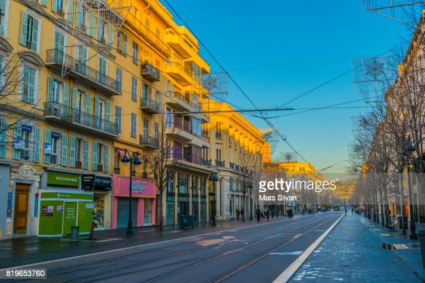 Main Street and Building in Nice City