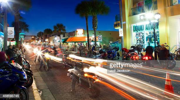 main street daytona florida motorcycle rally - daytona bike week stock pictures, royalty-free photos & images