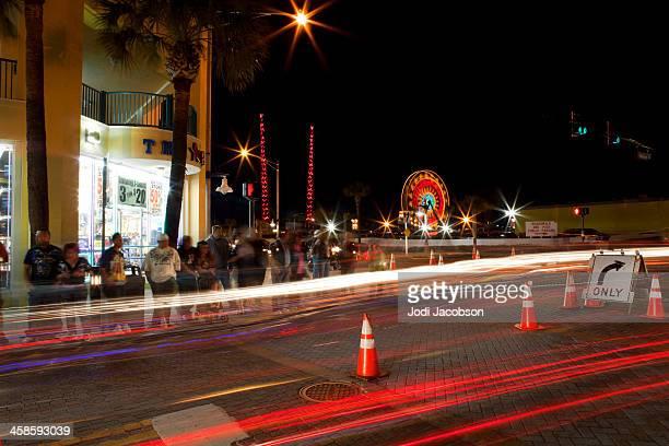 main street daytona florida - daytona bike week stock pictures, royalty-free photos & images