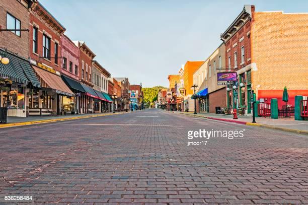 Main Street Deadwood South Dakota Morning Views