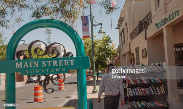 main street downtown in las cruces, new mexico - las cruces new mexico stock pictures, royalty-free photos & images