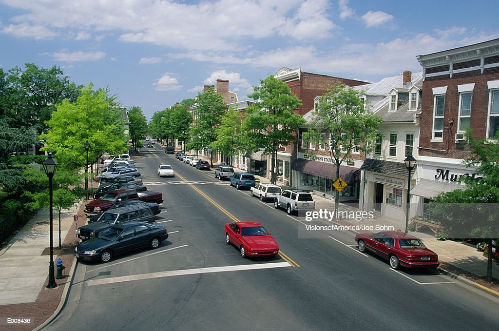 Main Street, Easton, Maryland : Foto de stock
