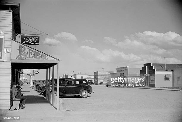 Main Street Fairfield Montana USA Arthur Rothstein for Farm Security Administration August 1939