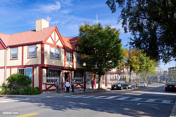 Main Street in Falmouth, Cape Cod, Massachusetts.