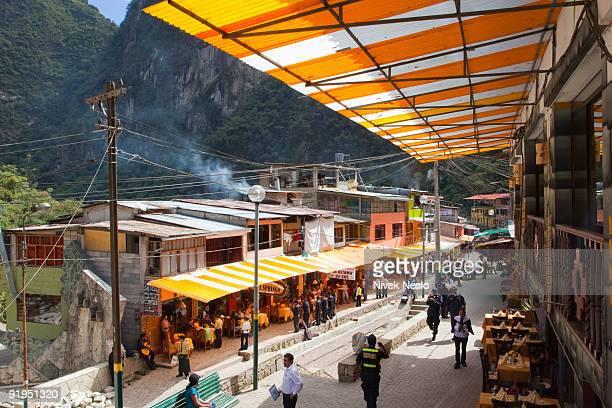 main street in Macchu Picchu Pueblo