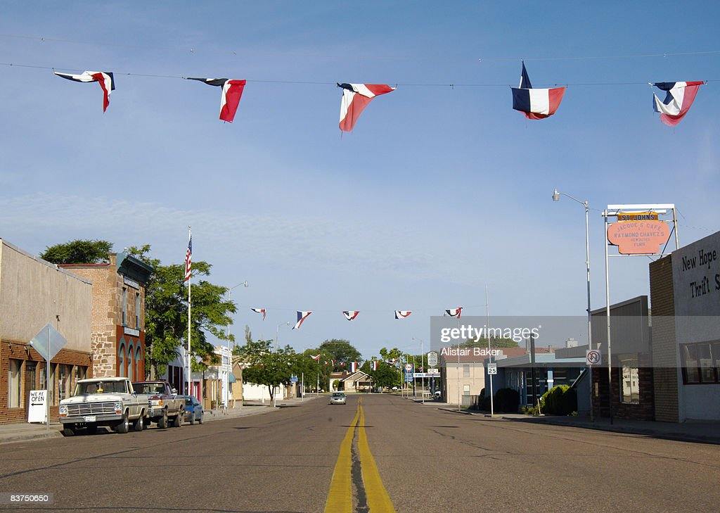 Main street in small town : Foto stock