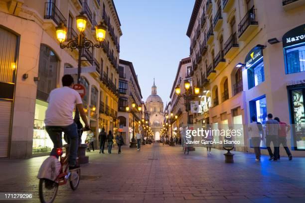Main street in Zaragoza