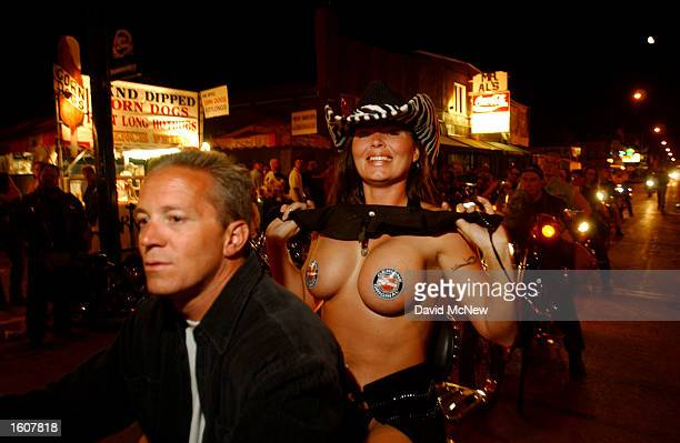 Main Street is the place to see and be seen while cruising at the 61st annual Sturgis Motorcycle Rally August 10 in Sturgis SD