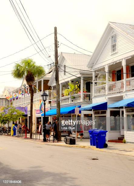 main street, key west, florida. - duval street stock pictures, royalty-free photos & images