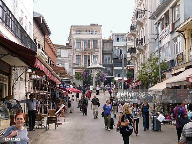CONTENT] Main street leading to main square on the island Büyükada the biggest of the nine socalled Princes' Islands in the Sea of Marmara Istanbul...