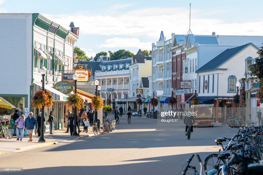 Main Street, Mackinac Island : Stock Photo