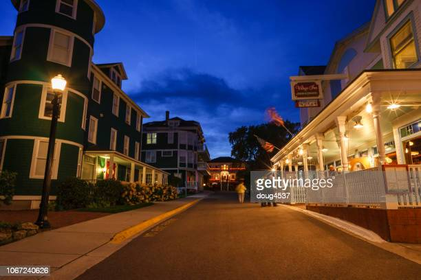 main street, mackinac island - mackinac island stock pictures, royalty-free photos & images