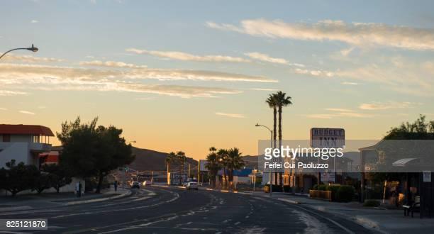 main street of barstow, san bernardino county, california, usa - barstow stock photos and pictures