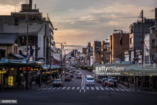 Main street of Gion District, Kyoto, Japan
