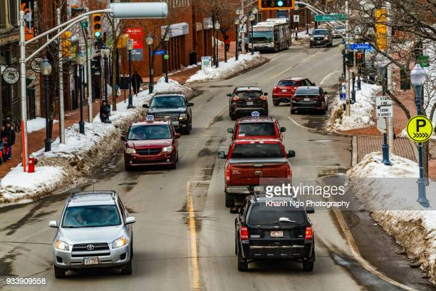 main street of moncton - khanh ngo stock pictures, royalty-free photos & images