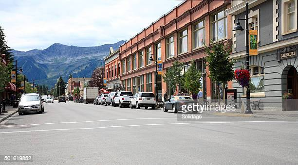 Main Street Old Town Fernie British Columbia In Summer