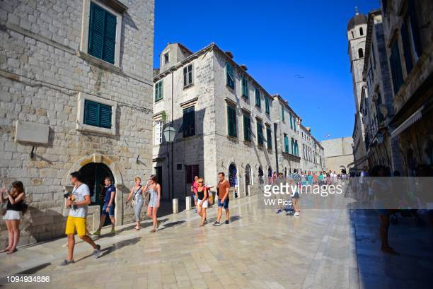 Main street Placa Stradun in Dubrovnik Croatia