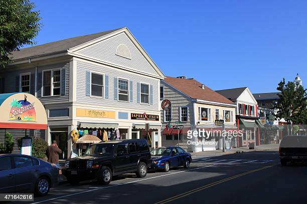 main street, plymouth, massachusetts, usa - plymouth massachusetts stock photos and pictures
