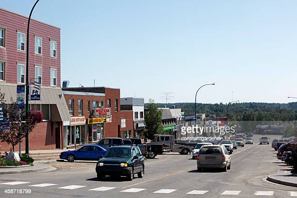 Main Street Rocky Mountain House Small Town Alberta