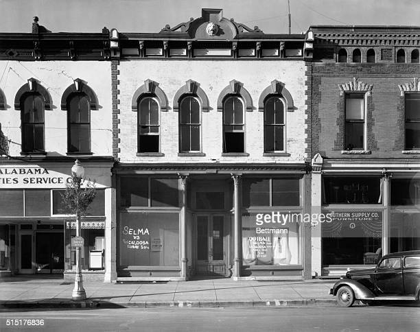 Main Street shop facades in Selma Alabama 1935 Photo by Walker Evans