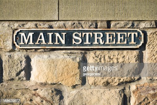 main street sign stock photo | getty images