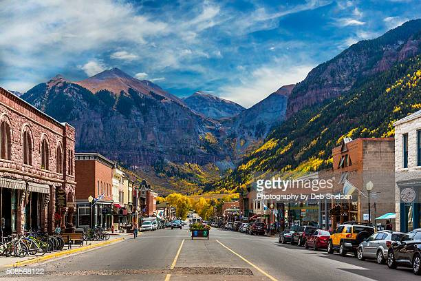 main street telluride colorado - high street stock pictures, royalty-free photos & images