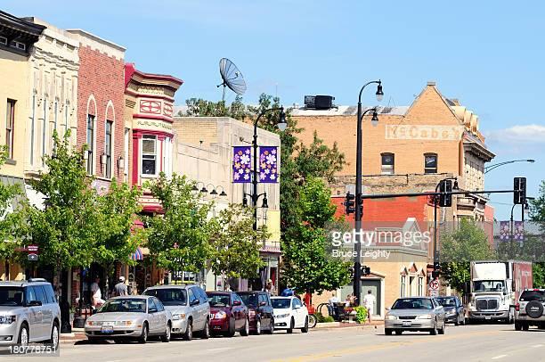 main street usa - dekalb stock photos and pictures