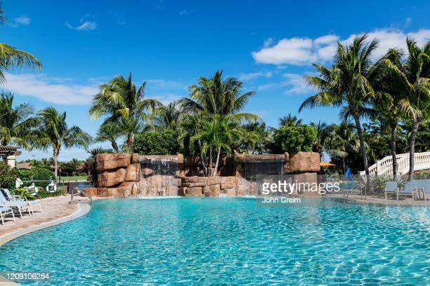 Main swimming pool at the Traviso Bay Resort in Naples.