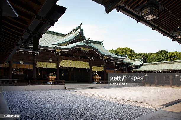 Main temple complex at Meiji Jingu Shrine, Shibuya, Tokyo, Japan
