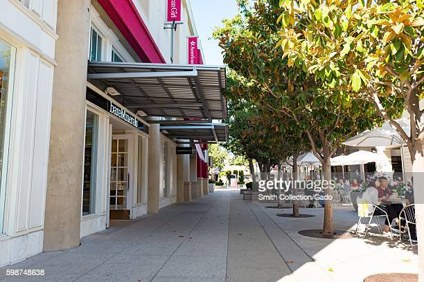 Main thoroughfare, with stores including Bare Minerals and American Girl, at Stanford Shopping Center, a popular luxury shopping mall in the Silicon...