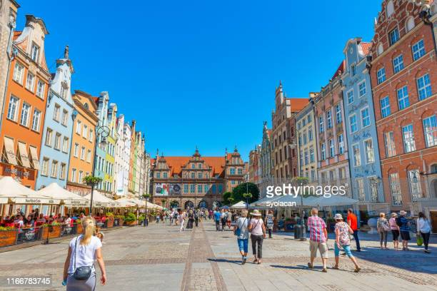 main town hall of gdansk - syolacan stock pictures, royalty-free photos & images