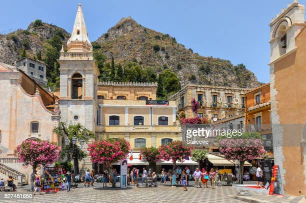 Main town square in Taormina, Sicily