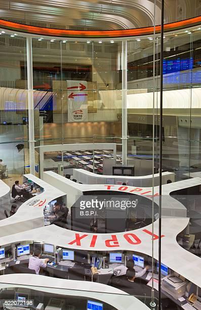 Main trading floor of the Tokyo Stock Exchange
