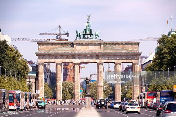 Main traffic street in front of the Brandenburg Gate